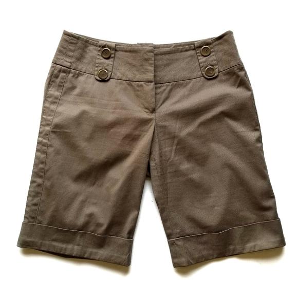 Trina Turk | Khaki Bermuda Shorts
